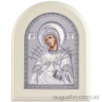 Ікона Божої Матері «Семистрільна» в сріблі