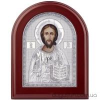 Икона Иисуса Христа Пантократора в серебре