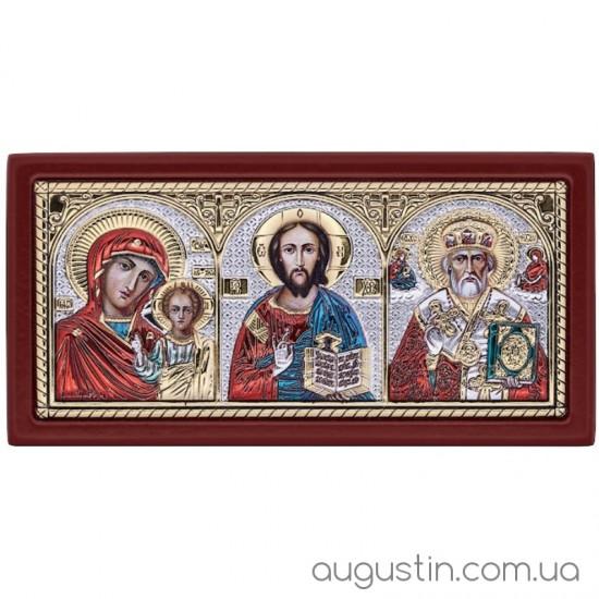 Икона Казанской Богородицы, Спасителя и Николая Чудотворца