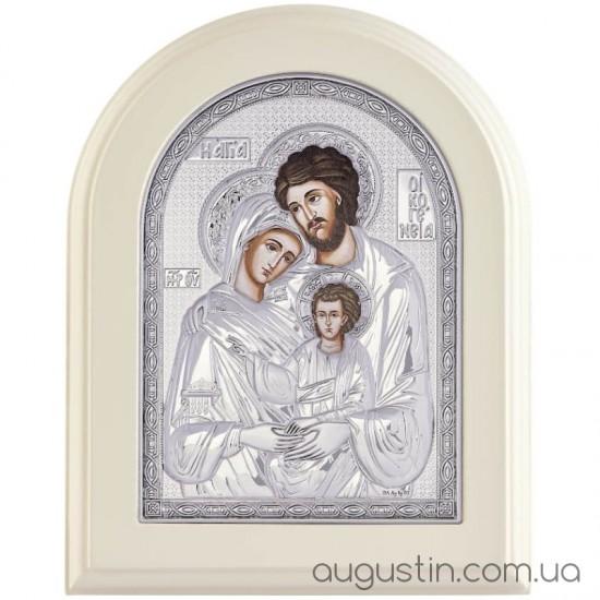 Икона Святое Семейство Богородицы в серебре