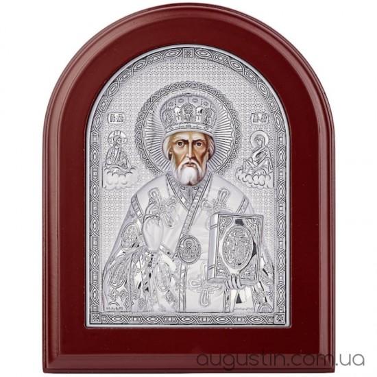 Икона Святого Николая Чудотворца в серебре