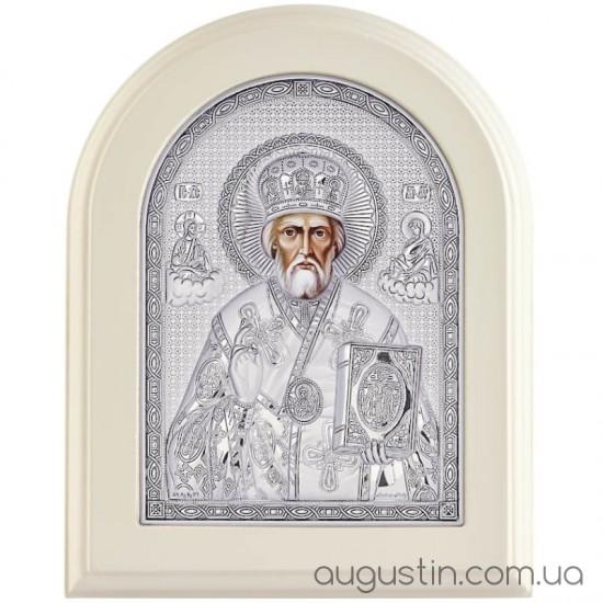 Икона Святого Николая Угодника в серебре