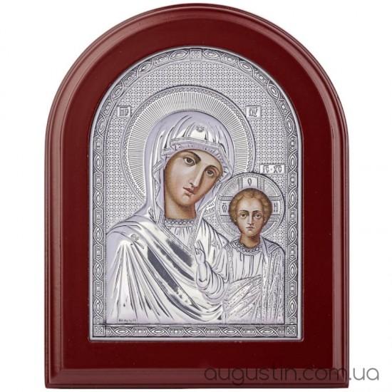 Казанська ікона Божої матері в сріблі